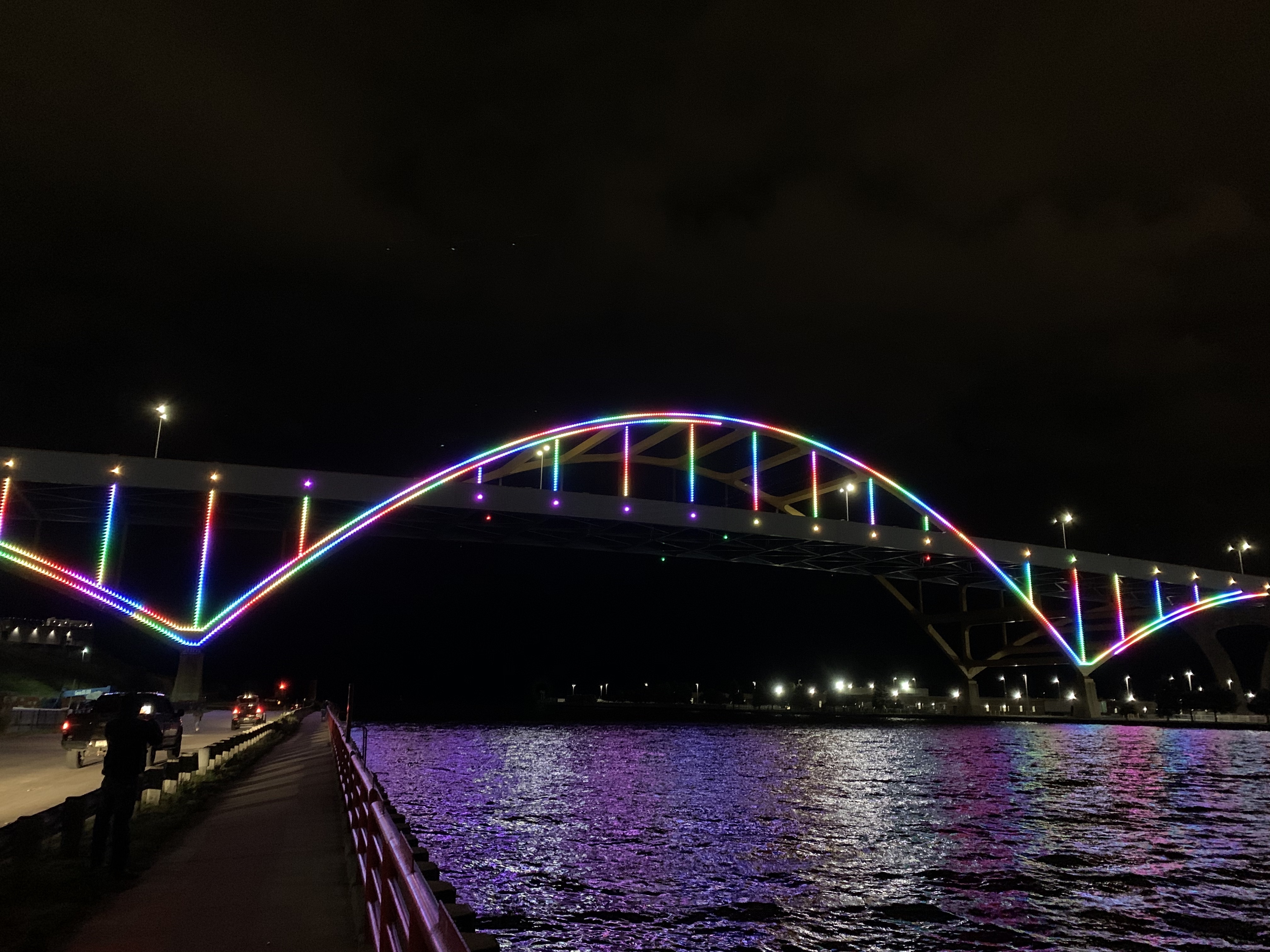 Light the Hoan — First look at bridge's arches lit up over the city: Slideshow